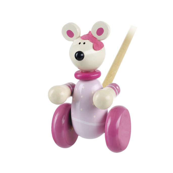 Pink Mouse Push Along (pack of 6)