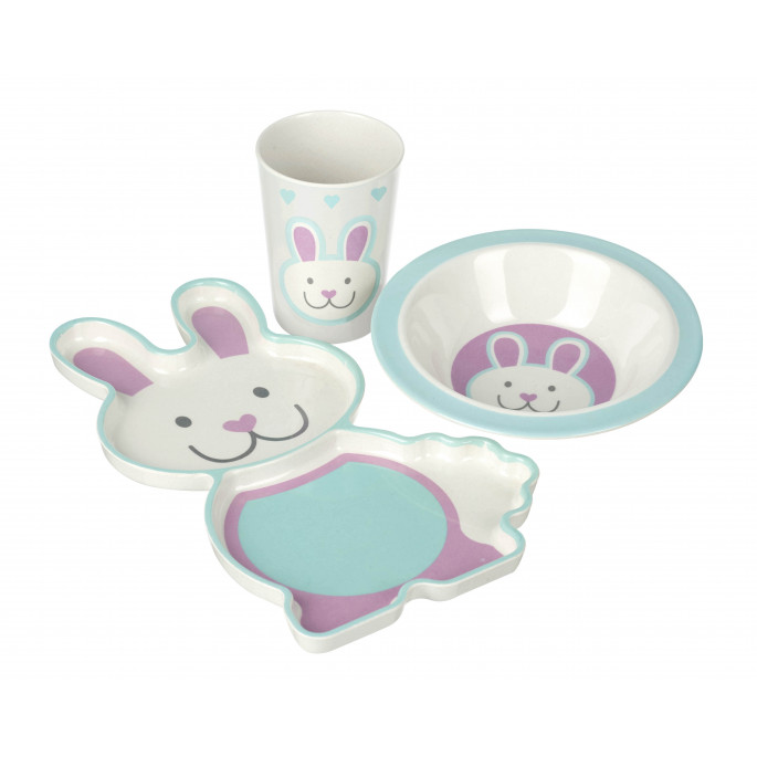 Rabbit Bamboo Dinner Set (pack of 4)
