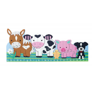 Farm Animals Alphabet Puzzle (pack of 4)