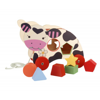 Cow Shape Sorter Pull Along (pack of 2)