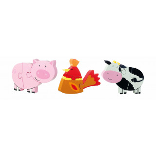 Farm Yard Mini Puzzle Set (pack of 6)