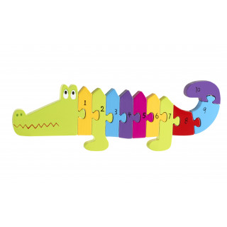 Crocodile Number Puzzle (pack of 4)