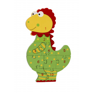 Dinosaur Number Puzzle (pack of 4)