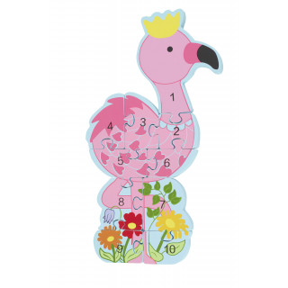 Flamingo Number Puzzle (pack of 4)