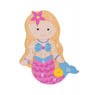 Mermaid Number Puzzle (pack of 4)
