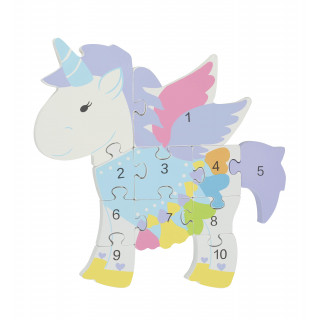 Unicorn Number Puzzle (pack of 4)