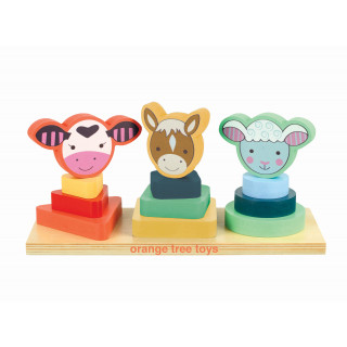 Farm Animal Shape Stacker (pack of 2)