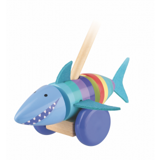 Shark Push Along (boxed) (pack of 4)