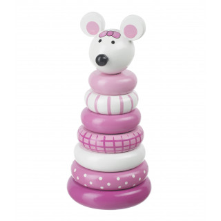 Pink Mouse Stacking Ring (pack of 4)