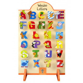 Wooden Alphabet Letter Stand